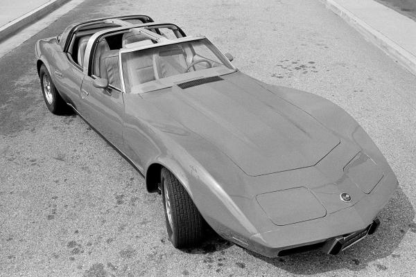 A 1979 four-door Corvette built to sell for $44,000 (seen May 17, 1980, in Los Angeles) got 16 mpg on highways and was 18 feet long. Chevy's new 2014 Corvette uses aluminum and carbon fiber to make it lighter and faster.