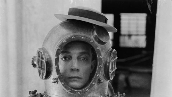"Buster Keaton, aka ""The Great Stone Face,"" brought side-splitting comedy to the silent-screen era. Here, he's pictured in 1924's <em>The Navigator.</em>"