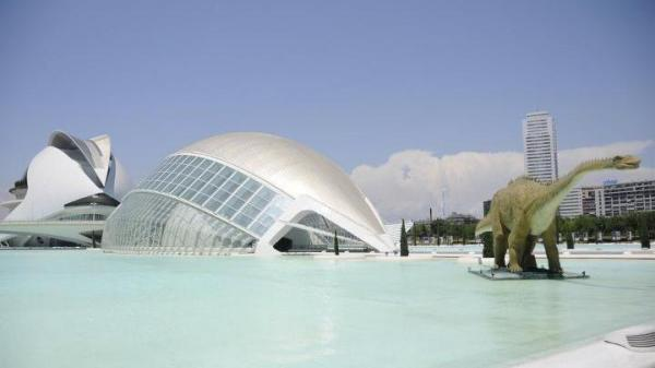 Valencia spent more than $1.5 billion to build the City of Arts and Sciences, the museum complex shown here in a photo from summer 2011.