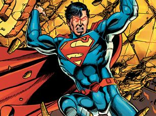 An image from the cover of the first issue of <em>Superman</em>.