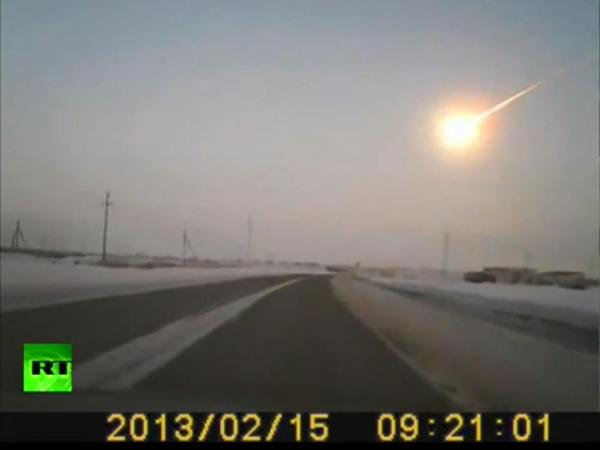 One of the dashcam videos recorded Friday when a meteor appeared over Russia.