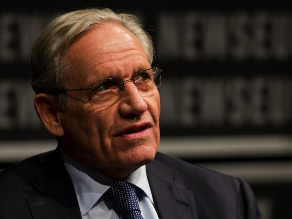 <em>Washington Post</em> associate editor Bob Woodward speaks at the Newseum in Washington, D.C., in June.
