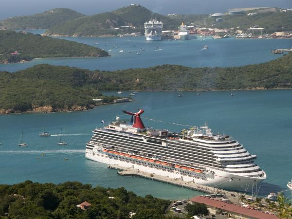 The Carnival Dream docked in St. Thomas, U.S. Virgin Islands, in December 2010.