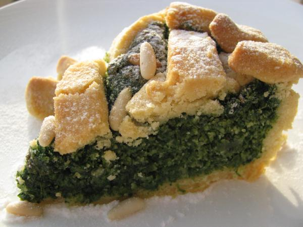 Tuscany's sweet spinach pie is a  dish that's often associated with Easter and spring.