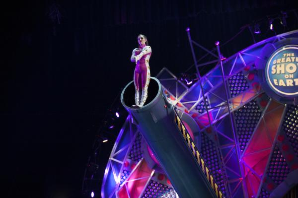 At 20, she is the world's youngest female human cannonball.