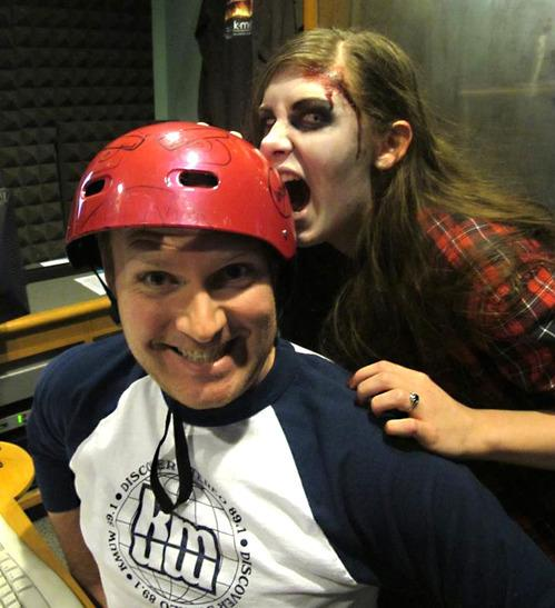 "<strong>KMUW Zombie Protection Helmet:</strong> Last year, Wichita did more than thank their radio supporters for pledging; they also helped protect listeners from harm during a zombie apocalypse, of course. The station offered protective helmets to those who contributed at the ""Zombie Apocalypse Premium Level."" They even brought in musician Jonathan Coulton to help explain: http://bit.ly/13UR0kl"