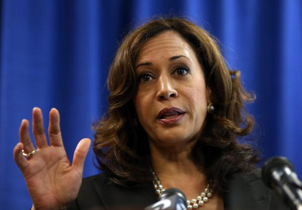 California Attorney General Kamala Harris.