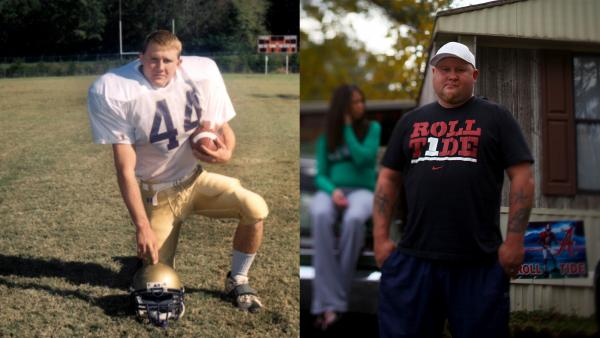 Frankie Lewchuk had been a high school football star whose picture was in his hometown newspaper every week. Now, after struggling with a crystal meth addiction, he is trying to repair his life.