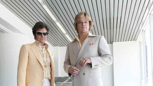 Michael Douglas and Matt Damon star as Liberace and his young lover, Scott Thorson, in Steven Soderbergh's new HBO biopic <em>Behind the Candelabra.</em>