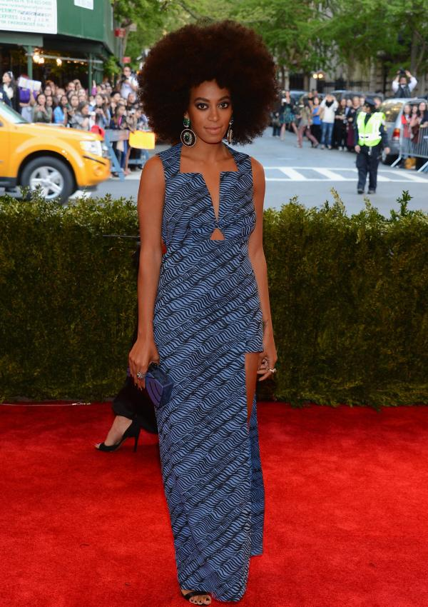 Solange Knowles looks pretty great without the boots.