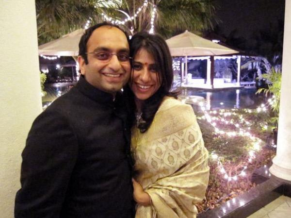 Simran Mangharam and her husband, Siddharth, founded Floh, a network for India's singles. They got the idea from their own first meeting at a friend's party.