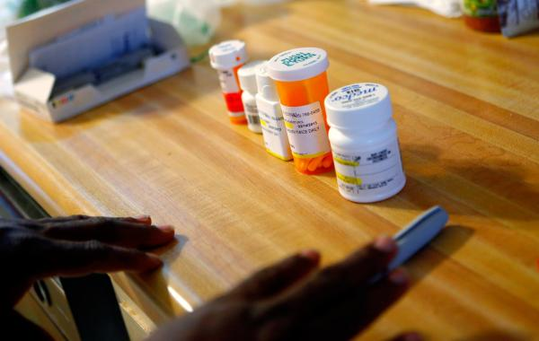 Mike Jackson's medications cost nearly $500 a month.