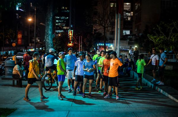 Despite the high crime rate in Caracas, the Venezuelan capital, runners refuse to be forced indoors.