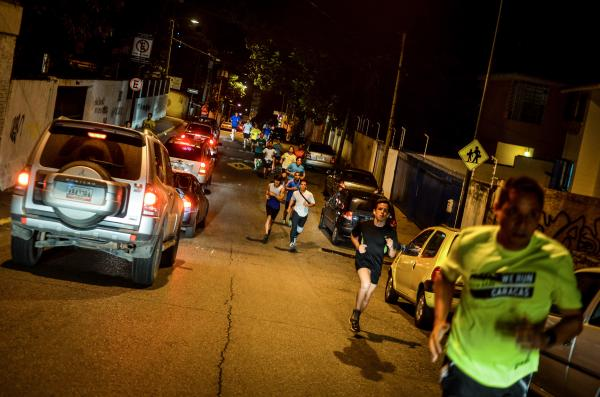Runners Venezuela is an example of the extraordinary lengths the people of this city are willing to go to in order to have as normal a life as possible.