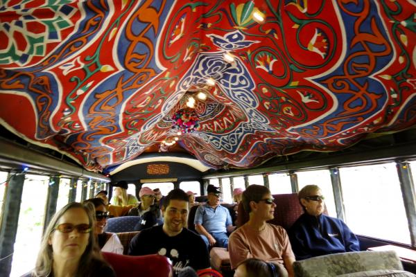 It's a packed house aboard the funky bus.