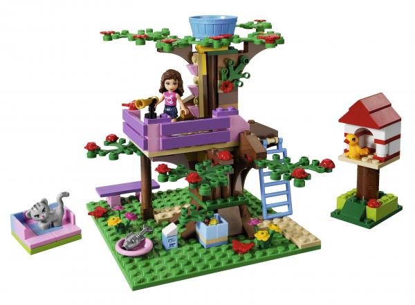 Olivia also has a treehouse.