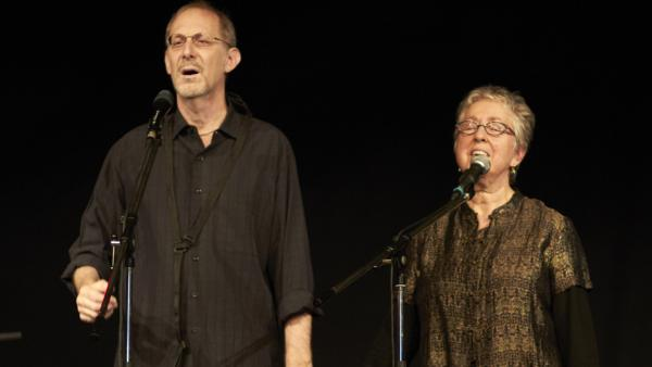 Michael Alpert and Ethel Raim perform as part of the An-sky Yiddish Heritage Ensemble.