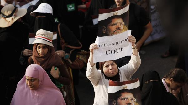 Egypt's military and the nation's interim leaders say the ouster of President Mohammed Morsi was not a coup, but rather a response to public demand. Morsi's supporters believe otherwise.  If it was judged to be a coup, the U.S. might have to cut off aid to Egypt's military.