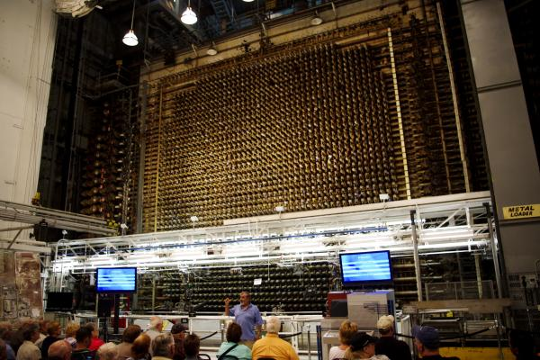 "The B Reactor is the world's first full-scale nuclear reactor located at the Hanford site in Richland, Wash. The three-story-high block of graphite contains about 2,000 ""process tubes"" arranged in a grid. These tubes contained uranium, and when enough uranium was brought together, a chain reaction of neutrons turned some of it into plutonium — which became the fissile core of nuclear bombs."