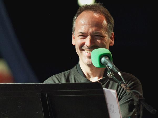 Will Shortz joined Ask Me Another at Central Park's SummerStage.