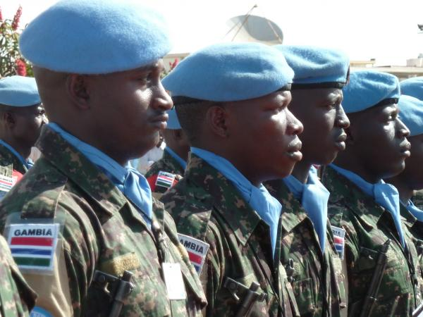 Peacekeepers of the joint African Union-United Nations Mission in Darfur (UNAMID) in 2012.