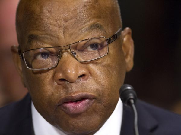 Rep. John Lewis of Georgia testifies at a Senate Judiciary Committee hearing on the Voting Rights Act on Capitol Hill in Washington on Wednesday.