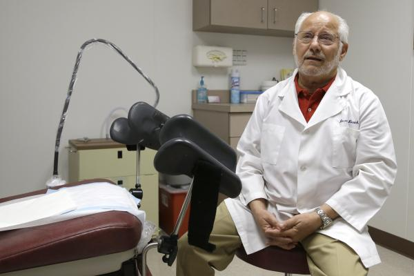 Dr. Howard Novick says new abortion restrictions in Texas could force him to close the Houston clinic he opened in 1980. He says he doesn't have the more than $1 million required to convert his office into a surgical center with wide corridors and sophisticated airflow systems.