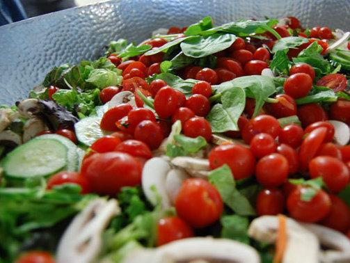 One of Dvorin's salads, which he prepares daily for SpareFoot's 90 employees.