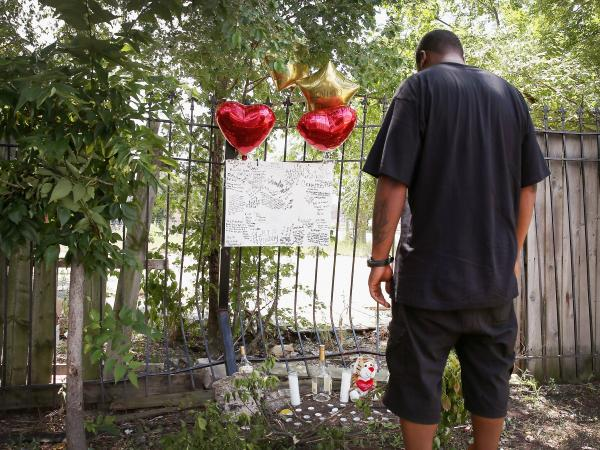 A sidewalk memorial in Chicago remembers Eugene Clark, 25, who was shot and killed last weekend. In the same weekend, the city had at least 6 people killed and 22 wounded by gunfire. This weekend, the Congressional Black Caucus held a summit in Chicago to discuss violence in urban areas.