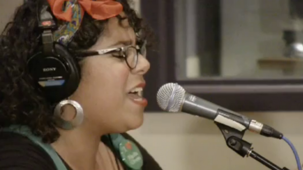 La Santa Cecilia performs live in the <em>World Cafe </em>studios<em>.</em>