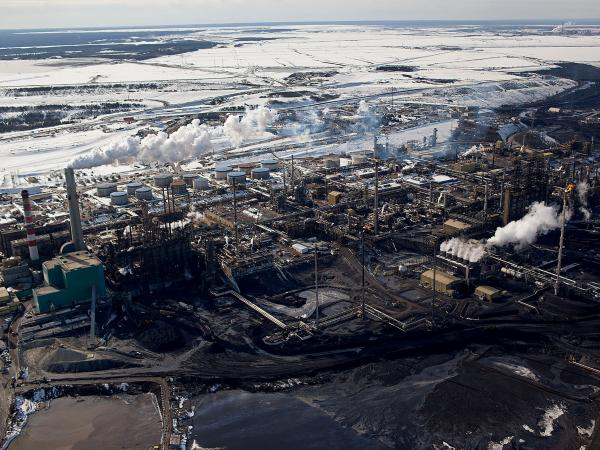The Suncor Energy Inc. plant is in the Athabasca Oil Sands area near Fort McMurray.