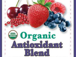 The label for the berry blend recalled in June because of pomegranates linked to a hepatitis A outbreak.