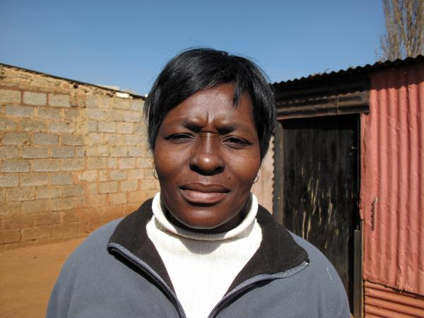 Sibongile Tshabalala, 37, counts herself as one of the people saved by the new HIV treatment program. When she was diagnosed in 2000, HIV was a death sentence in South Africa, she says.