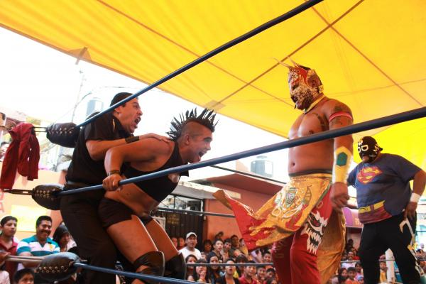 Although his flamboyancy often overshadows his wrestling skills, like most <em>Exóticos</em>, Juana La Loca is an excellent wrestler that both gay and straight fans admire for his technique.