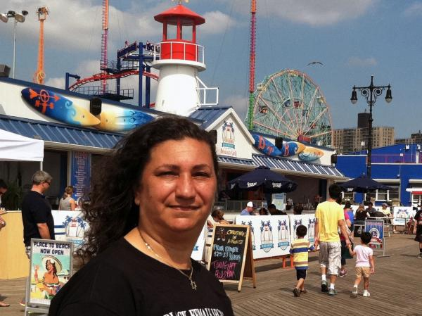 Ann Valdez lives with her teenage son in Coney Island, Brooklyn