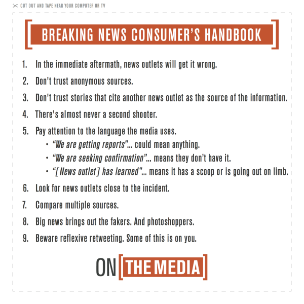 On The Media's breaking news consumer's handbook.