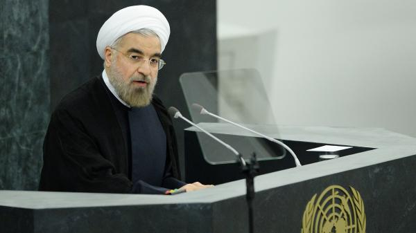 Iranian President Hasan Rouhani speaks at the United Nations on Tuesday. The U.S. and Iran are taking part in talks Thursday, looking for a possible breakthrough after years of negotiations on Iran's nuclear program.