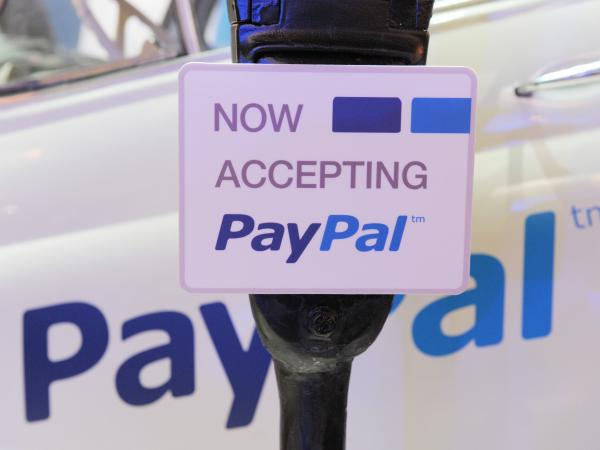 An illustration of online payment service PayPal at LeWeb Paris 2012 in Saint-Denis, France.