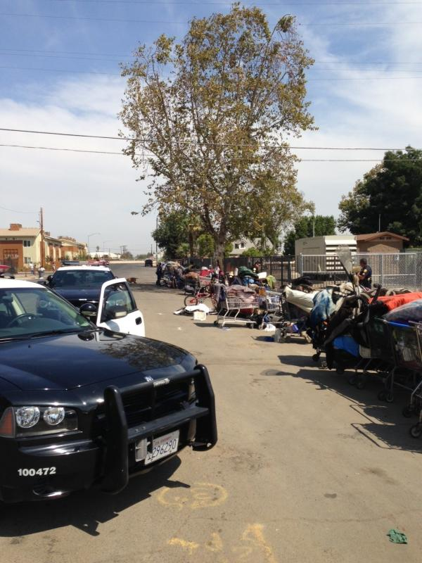 A former encampment. Fresno officials have dismantled three shantytowns.