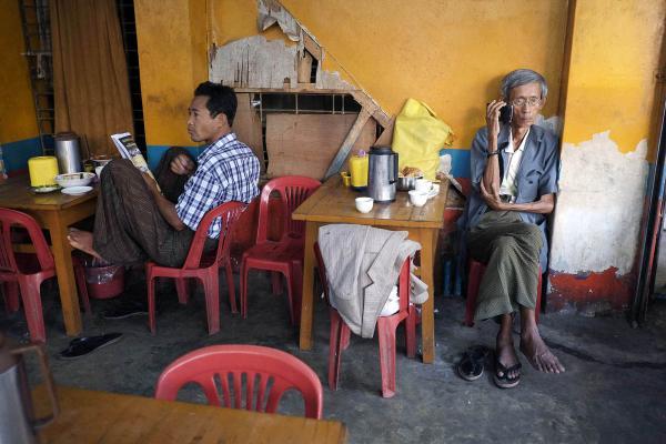Tea shop, Yangon, 2013