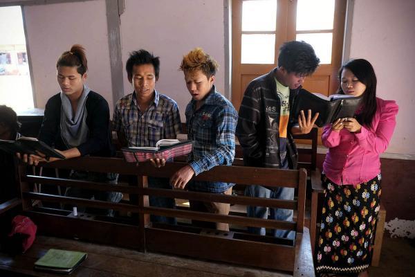 Kachin church service, Lashio, 2013