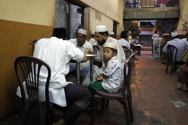 Morning tea in Muslim neighborhood, Yangon, 2013