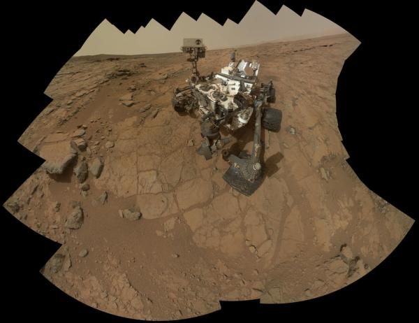 This self-portrait of NASA's Mars rover Curiosity combines 66 exposures taken by the rover's Mars Hand Lens Imager (MAHLI) during the 177th (February 3, 2013) Martian day, or sol, of Curiosity's work on Mars. (NASA)