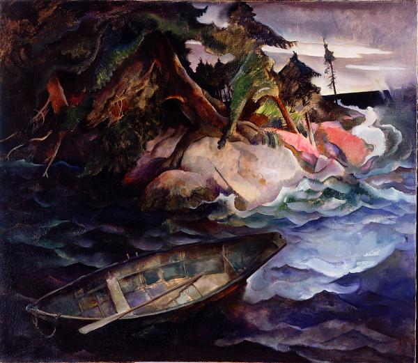 N.C. Wyeth, The Drowning, 1936. Oil on canvas, 42 x 48 1/8 inches. Collection of Brandywine River Museum, Bequest of Carolyn Wyeth, 1996