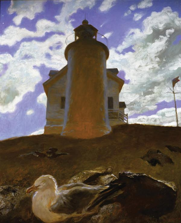 Jamie Wyeth, Comet, 1997, Oil on canvas, 48 x 40 inches.  Private Collector, New Hope, Pennsylvania, ©Jamie Wyeth