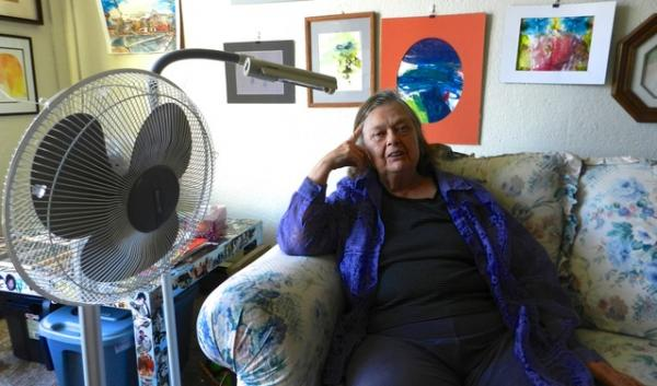 HelenRuth Stephens has asthma and chronic obstructive pulmonary disease. She says hot weather drains her energy and makes it hard to breathe.