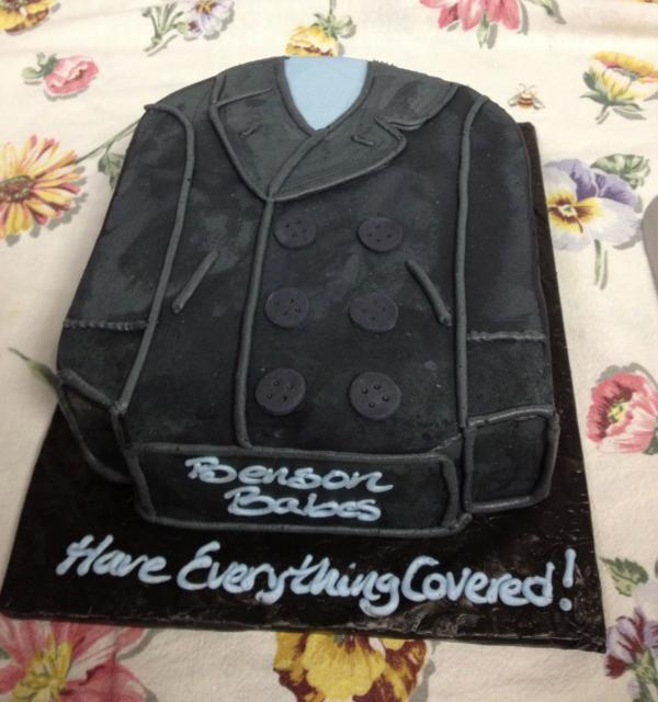 Pam Bradford brought this cake to the group's last meeting as Massachusetts General Hospital.