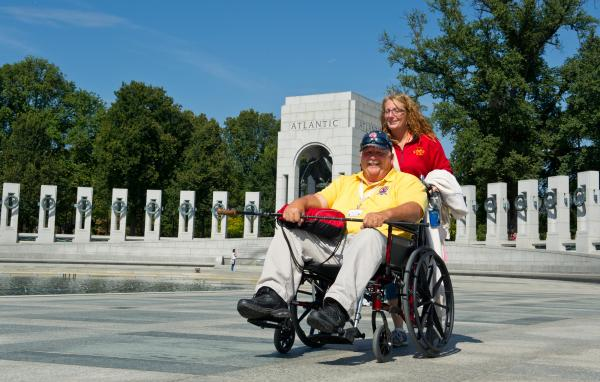 Veterans who came to Washington Tuesday to see the World War II memorial on the National Mall were able to complete their visit, although the memorial — like other federal museums and memorials — was officially closed to the public.