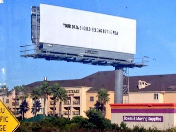It's unclear who's behind this mysterious billboard south of San Francisco.