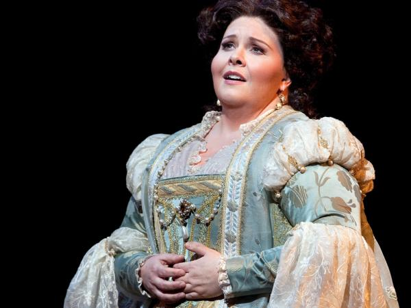 Soprano Angela Meade's career rocketed after she made her professional debut as Elvira in Verdi's <em>Ernani</em> at New York's Metropolitan Opera.